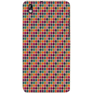 ifasho Animated Pattern  littel and Big colourful Circle Back Case Cover for HTC Desire 816