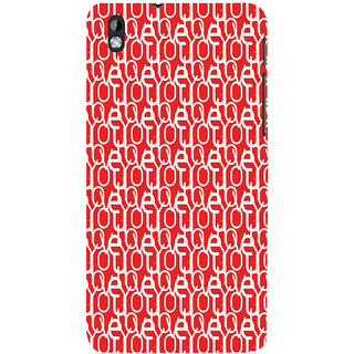 ifasho Modern Art Design Pattern with Lot Of alphabet Back Case Cover for HTC Desire 816