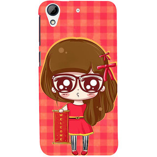 ifasho Crazy Girl Back Case Cover for HTC Desire 728