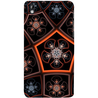 ifasho Animated Pattern design colorful flower in royal style Back Case Cover for HTC Desire 816