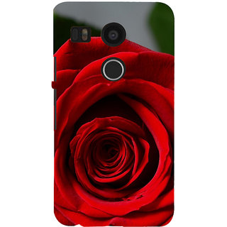 ifasho Red Rose Back Case Cover for Google Nexus 5X