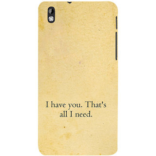 ifasho I have you thats all I need Back Case Cover for HTC Desire 816