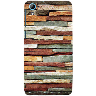 ifasho Rough Stone Graphics Back Case Cover for HTC Desire 828