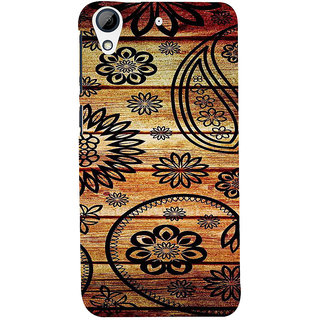 ifasho Animated Royal Pattern with Wooden back ground Back Case Cover for HTC Desire 728