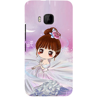 ifasho Princess Girl Back Case Cover for HTC One M9