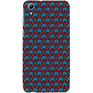 ifasho Animated Pattern design flower with leaves Back Case Cover for HTC Desire 826