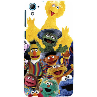 ifasho Cartoon Soft face many cartoons characters Back Case Cover for HTC Desire 828