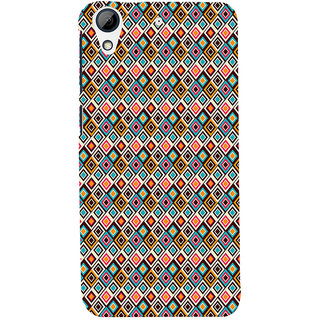 ifasho Animated Pattern colrful design flower with 3Daditional design Back Case Cover for HTC Desire 626