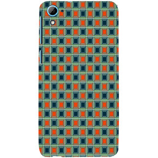ifasho Colour Full Square Pattern Back Case Cover for HTC Desire 828