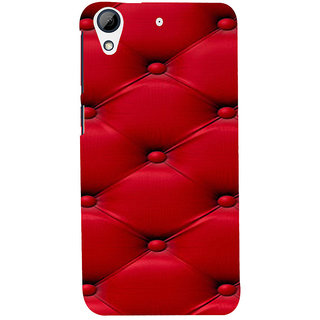 ifasho leather pattern sofa style red colour Back Case Cover for HTC Desire 728