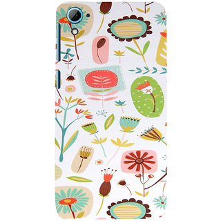 ifasho Animated Pattern colrful flower with leaves Back Case Cover for HTC Desire 826