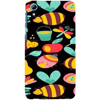 ifasho Animated Pattern colrful flower and butterfly Back Case Cover for HTC Desire 826