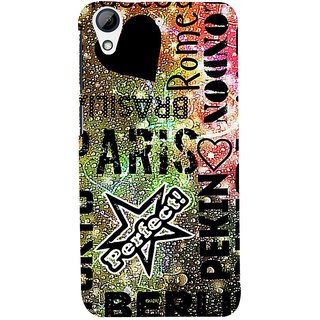 ifasho water Drop on Colurful love and city names Back Case Cover for HTC Desire 728