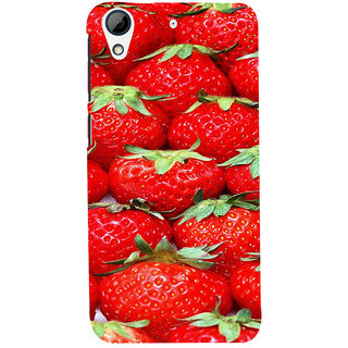 ifasho Modern  Design Pattern S3Dwberry wall paper Back Case Cover for HTC Desire 728