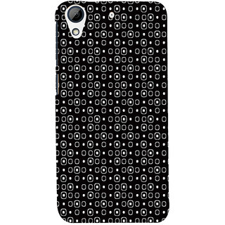 ifasho Modern Theme of black and white Squre and dots Back Case Cover for HTC Desire 728