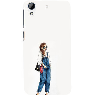 ifasho Girl in jeans Back Case Cover for HTC Desire 626