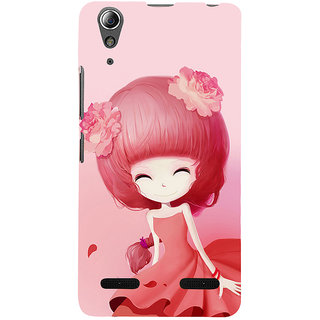 ifasho Cute Girl Back Case Cover for Lenovo A6000 Plus