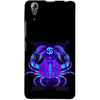 ifasho zodiac sign cancer Back Case Cover for Lenovo A6000 Plus
