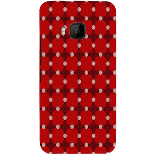 ifasho Design Clourful red and white Circle Pattern Back Case Cover for HTC One M9