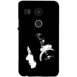 ifasho Girl with headphone Back Case Cover for Google Nexus 5X