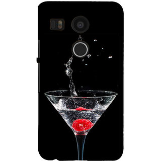 ifasho Rose in water glass with Drop of water Back Case Cover for Google Nexus 5X