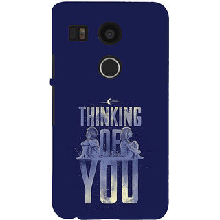 ifasho Thinking of you Back Case Cover for Google Nexus 5X