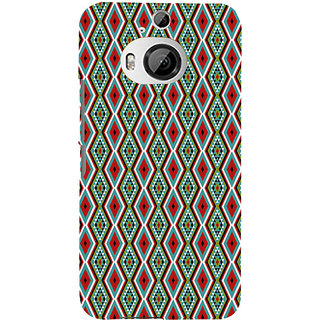 ifasho Animated Pattern colrful 3Daditional design Back Case Cover for HTC ONE M9 Plus