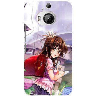 ifasho Girl with red bag Back Case Cover for HTC ONE M9 Plus