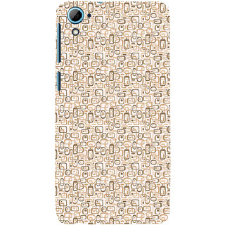 ifasho single color rectangle and circle and dots Pattern Back Case Cover for HTC Desire 826