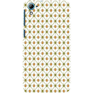 ifasho Modern Art Design animated cloth Pattern of flower Back Case Cover for HTC Desire 828