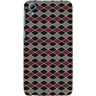 ifasho Animated Pattern of Chevron Arrows royal style Back Case Cover for HTC Desire 828