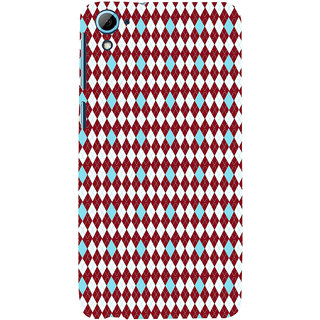 ifasho Animated Pattern design colorful in royal style Back Case Cover for HTC Desire 828