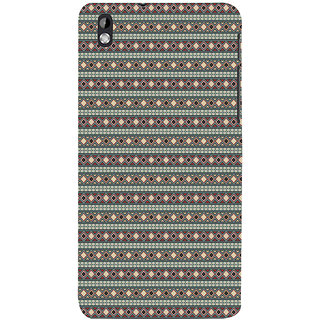 ifasho Animated Pattern colrful 3Dibal design rajasthani style Back Case Cover for HTC Desire 816