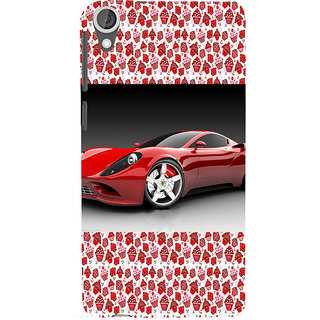 ifasho Stylish RED Car Back Case Cover for HTC Desire 820