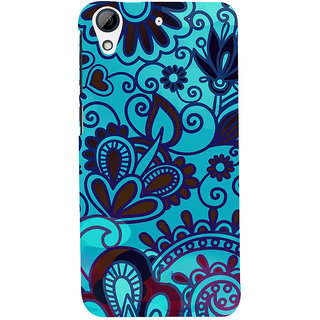 ifasho Modern Theme of royal design in black and white pattern Back Case Cover for HTC Desire 626