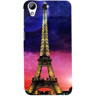 ifasho Effile Tower Back Case Cover for HTC Desire 728