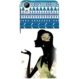 ifasho Girl  with Flower in Hair Back Case Cover for HTC Desire 728