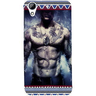 ifasho tatoo man six pack Back Case Cover for HTC Desire 728