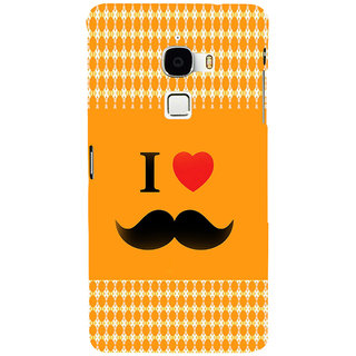ifasho I love Moustache Back Case Cover for Le TV Max