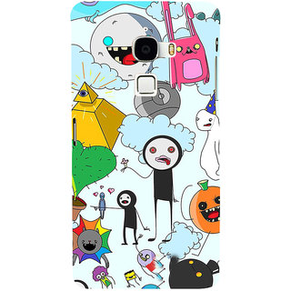 ifasho Cartoon Soft face many cartoons characters Back Case Cover for Le TV Max