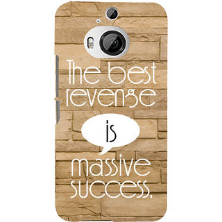 ifasho quotes on success Back Case Cover for HTC ONE M9 Plus