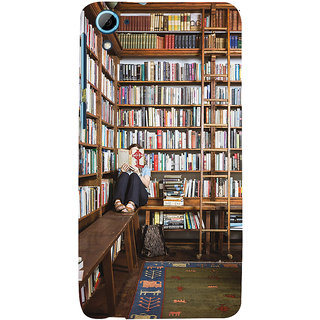 ifasho colrful design library pattern Back Case Cover for HTC Desire 828