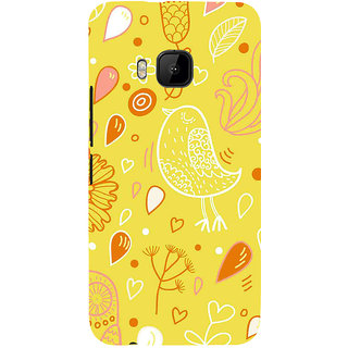 ifasho Animated Pattern colrful design cartoon flower with leaves Back Case Cover for HTC One M9