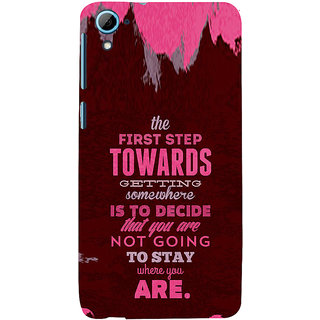 ifasho Kowledge quotes Back Case Cover for HTC Desire 828
