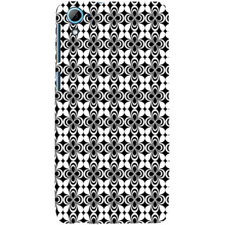 ifasho Animated Pattern design black and white flower in royal style Back Case Cover for HTC Desire 828