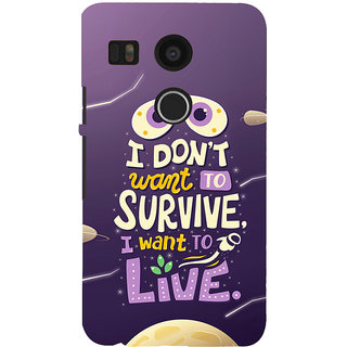 ifasho life Quotes Back Case Cover for Google Nexus 5X