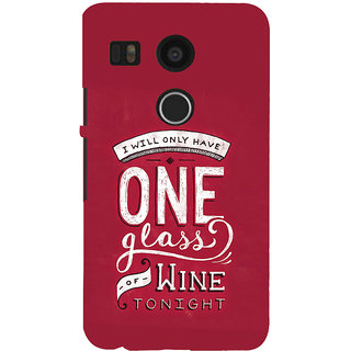 ifasho drink quotes Back Case Cover for Google Nexus 5X