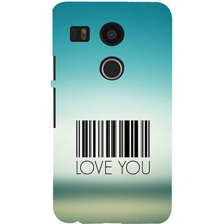 ifasho Love Quotes I love you Back Case Cover for Google Nexus 5X