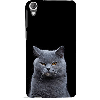 ifasho black Cat Back Case Cover for HTC Desire 820