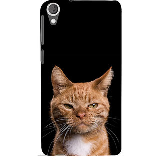 ifasho Brown cat Back Case Cover for HTC Desire 820